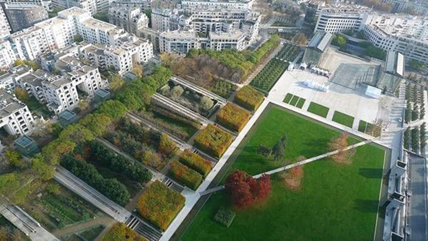 Aerial view of Park André Citroën