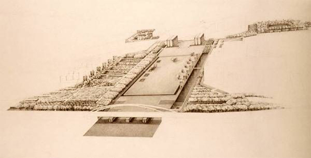 Original plan of the André Citroën Park