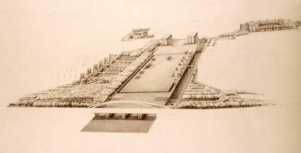 Original plan of the André Citroën Park