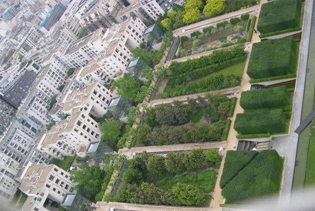 Park André Ctroën aerial view of Serially Gardens