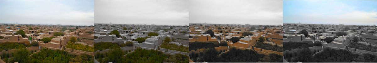 نقش رنگ در منظر شهری میبد