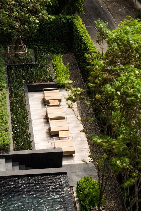 تاثیر خلاقیت در طراحی حیاط یک آپارتمان در بانکوک