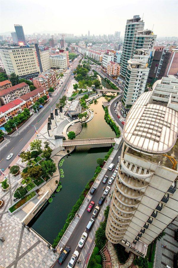 احیای شگفت انگیز رودخانه شهر ژانگ جیاگنگ