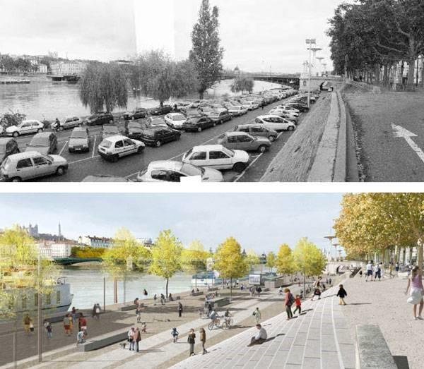 پیوند دوباره شهر و طبیعت در طراحی ساحل رودخانه لیون