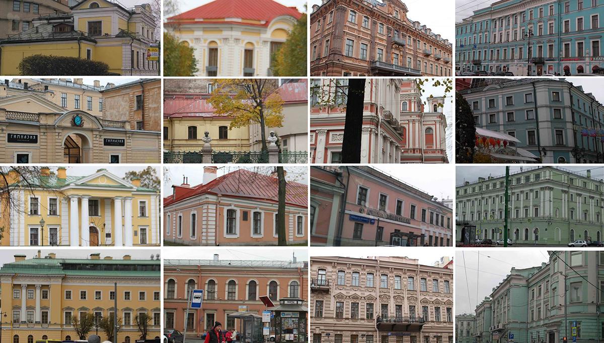 رنگ بافت تاریخی در منظر شهری مسکو و سن پترزبورگ