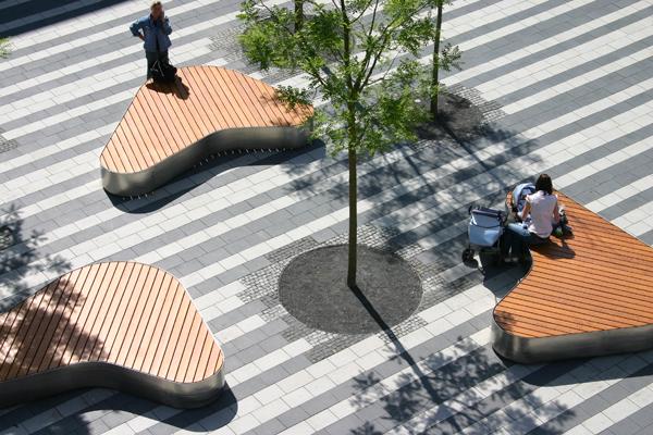 نقش تنوع سنگفرش در طراحی میدان عمومی