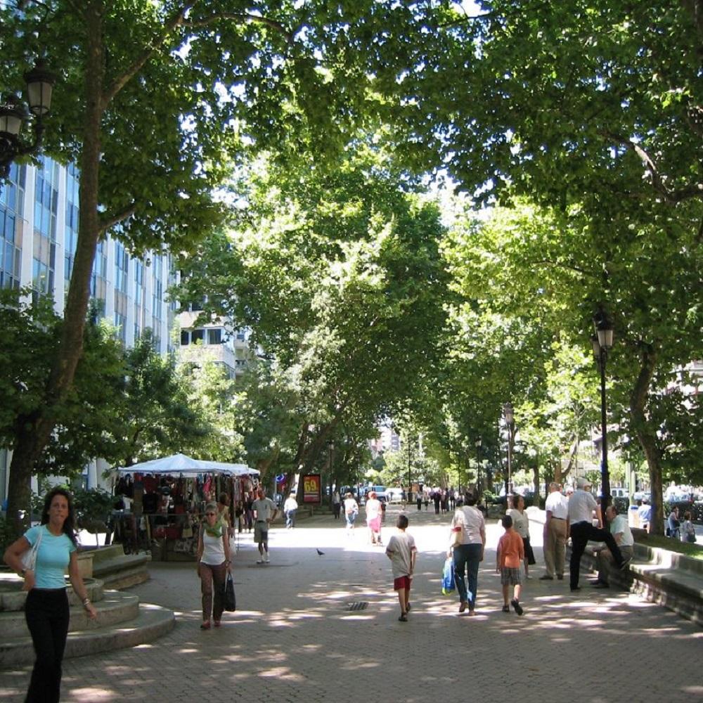 عملکرد مردم در برابر حضور درختان در نواحی تجاری شهر