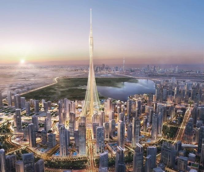 برج سانتياگو كالاتراوا در بندرگاه نهر دبی، بلندترین برج جهان در سال 2020