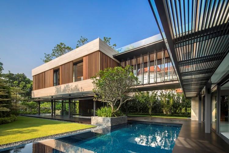 رعایت اصول پایداری مناطق گرمسیری در باغ – خانه مخفی در سنگاپور