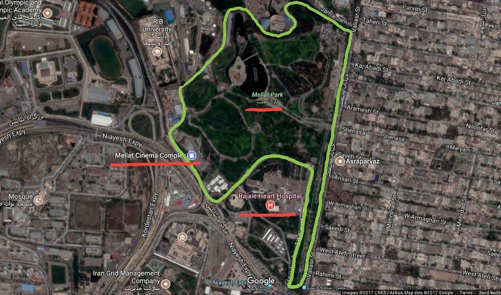 پارک ملت به مثابه تفرجگاهی در کنار هیاهوی خیابان ولیعصر