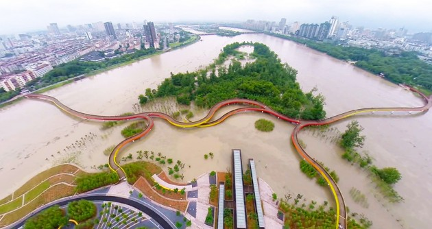 طراحی ویژه پارک Yanweizhou در شهر جین هوا
