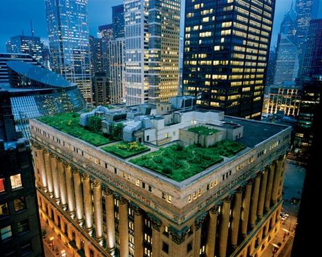 کمکهای سیستمهای بام سبز به شهرهای بزرگ