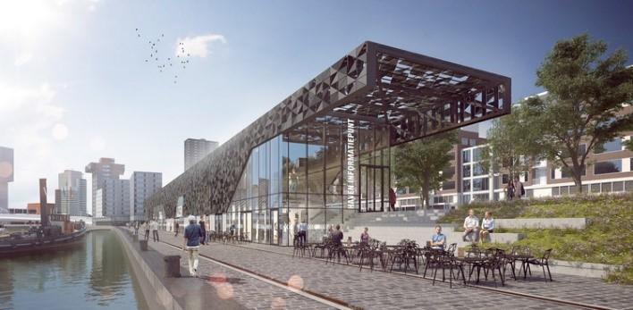 غرفه جدید بندر روتردام، ایجاد طرحی های-تک در زمینه ای تاریخی